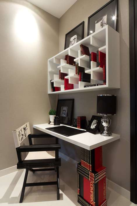 Stylish small spaces - Interior design for small room spaces set ...