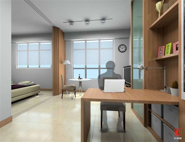 Hdb to offer 5 000 2 room flats for singles by 2014 for 2 room bto flat interior design ideas